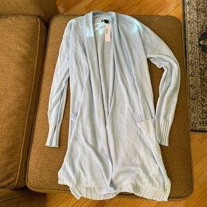 New J. Crew Open Cardigan Sweater in Linen XS